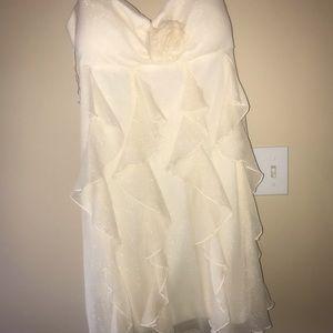 Shimmer, cream coloured junior dress